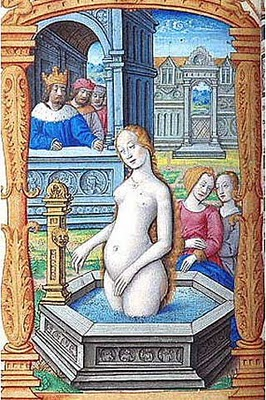 Oh, ye dirty girle! Ye needes a bathe. I bet ye like heated water...Why doth mine parchment feel sticky?