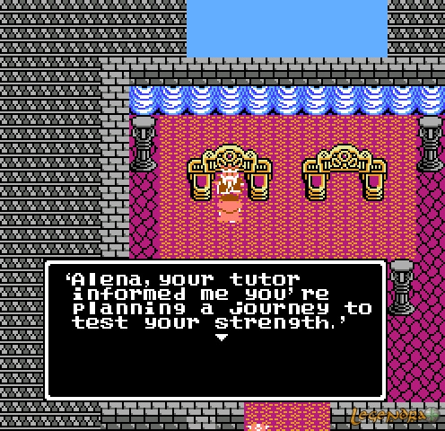 Thought I should include a screen shot of the NES version. Apparently they added the borderline-offensive gibberish for the DS version