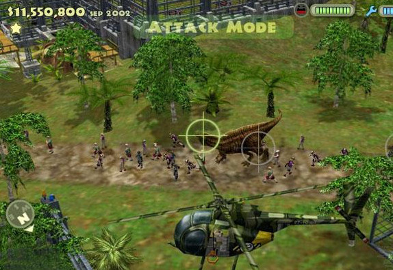 Nausea mode: where the camera jiggles, and the vomiting player simulates shooting dinosaurs on the ground below.