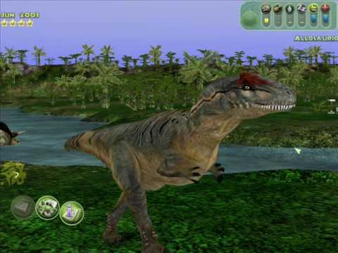 Allosaurus, a member of the Tyrannosaur family, struts for the camera. See, even T-Rex has relatives that embarass him at Thanksgiving.