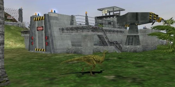 They call this building the hatchery. I think it looks suspiciously like a raptor pen.