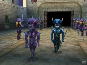 A more appropriate representation of in-game cut scenes, the character design obviously symbolises that neither Cecil nor Kain can see the path before them. Because of their helmets.