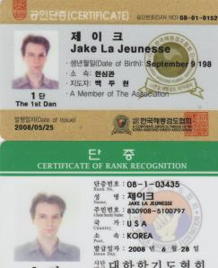 "The kumdo license lists my birthday as September 9, 198. They obviously misprinted it. It should read ""September 8."""