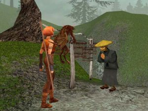 If I could take screenshots with my Game Cube, I'd show you the marionette glitch. But I can't. So here's a Chinese-looking guy instead.