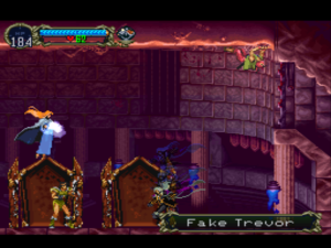 A reunion of four characters who, if you remember Castlevania III, never actually met each other, except for Trevor