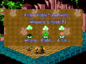 "I don't know what bothers me more; that I only had a 10% success rate with three choices, or that they put ""Yoshi"" in quotation marks."