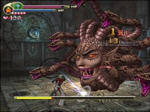 Only a Belmont dares to stare down a gorgon. Seriously...eye contact. You can't do it. Don't these people ever read?