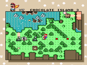 Apparently, beating the special zone turns the island into mint chocolate.