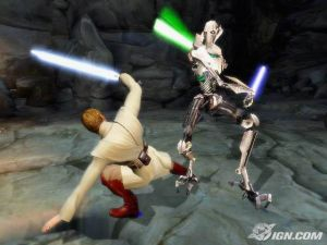 Despite my unfeeling metal body and legion of droids with heavy artillery, I will fight you with your weapon of choice, because having only two sith lords reduces the opportunity for lightsaber combat.