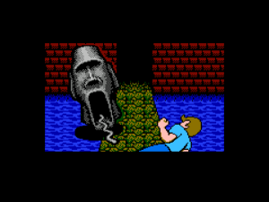 Legend of the Hidden Temple 2: Olmec's Revenge. I don't remember the temple guards trying to disembowel the Blue Barracudas.
