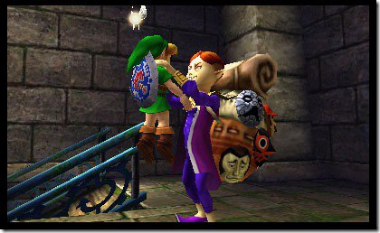 Link, who signed on with the Happy Mask Company in Ocarina of Time, learns that pyramid schemes often shake down their employees for money.