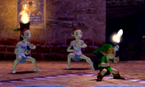 Link busts a move to commemorate the only time he will ever use the dance mask.