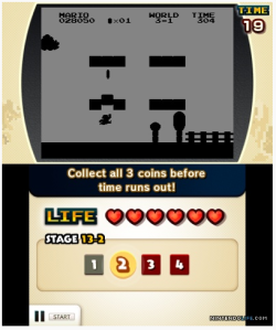 Oh no! How will I ever find the three coins with thirty seconds and only the silhouette of a few bricks?